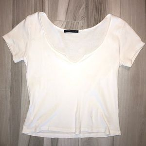 brandy melville white short sleeve shirt